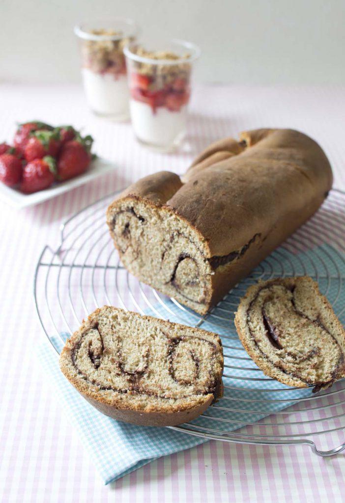Photo de la recette : Babka roulée au chocolat – Pologne
