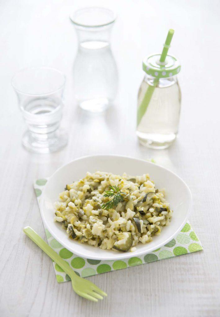Photo de la recette : Risotto aux poireaux et courgettes