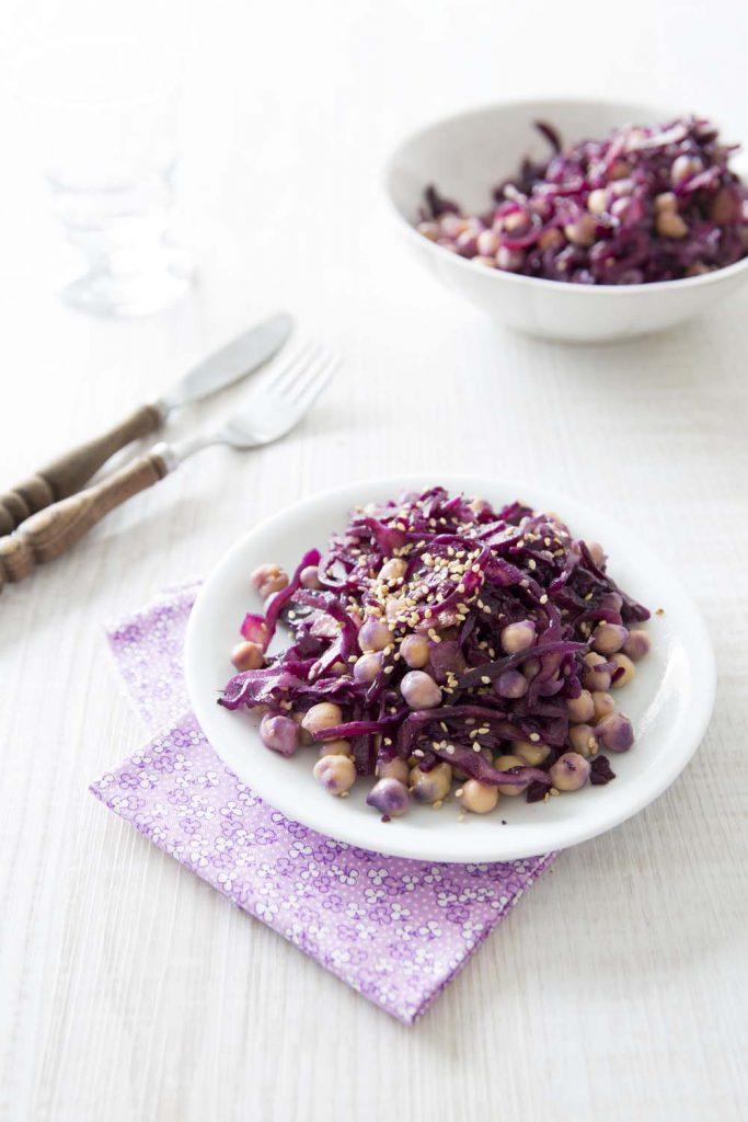 Photo de la recette : Salade de chou rouge aux pois chiches