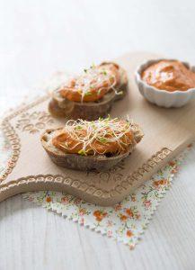 Tartinade poivron grillé et purée de noix de cajou