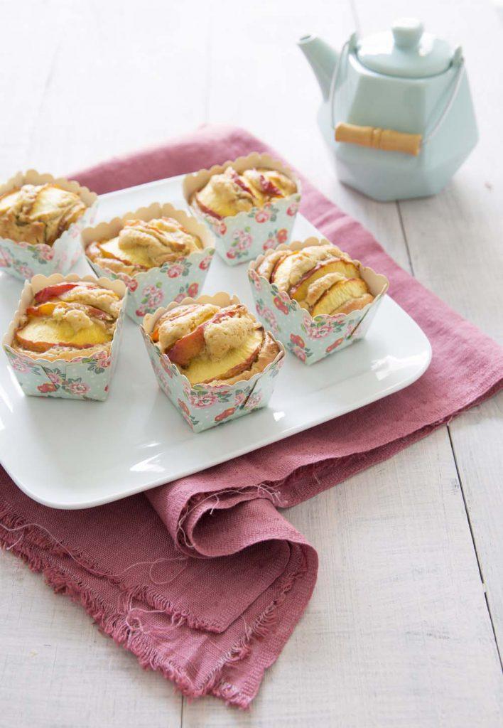 Photo de la recette : Petits gâteaux aux nectarines et fève tonka