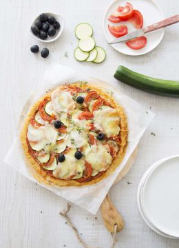 Cauliflower crust pizza : une pizza de chou-fleur sans gluten !