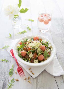 Salade estivale pastèque tofu