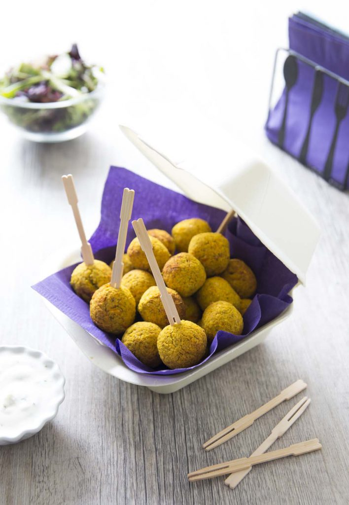 Photo de la recette : Falafels au curcuma