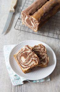 Cake marbré chocolat vanille – vegan