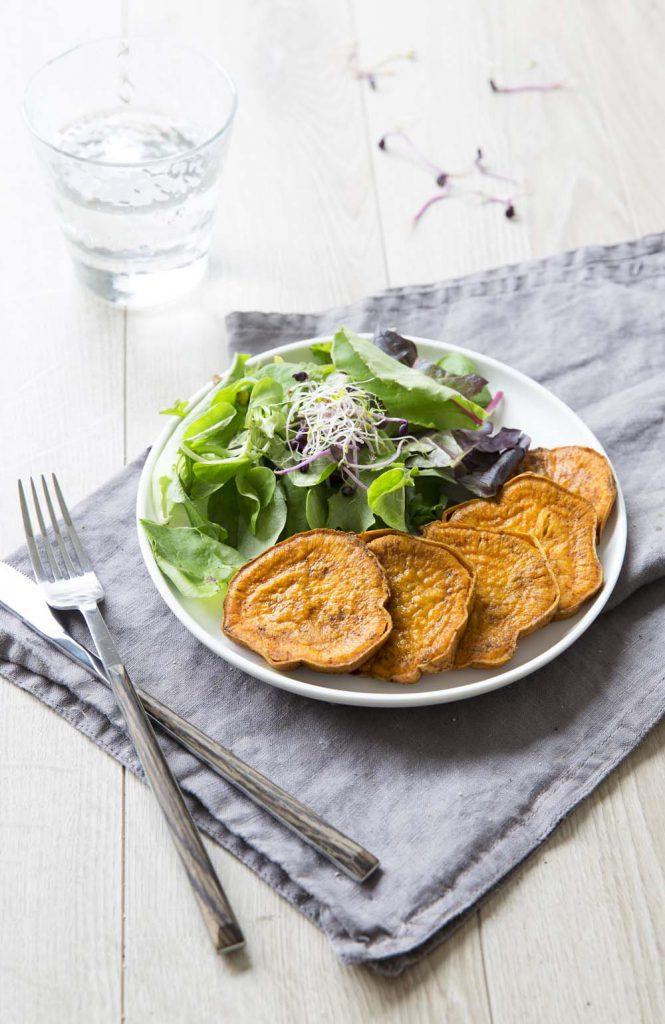 Photo de la recette : Patates douces rôties au curcuma