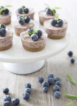 Cheesecake vegan aux myrtilles + vidéo