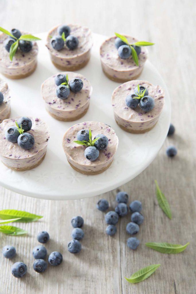 Cheesecake vegan aux myrtilles: photo de la recette