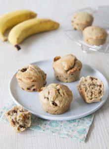 Muffins vegan bananes raisins secs