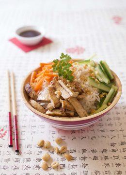 Bo bun vegan au tofu mariné