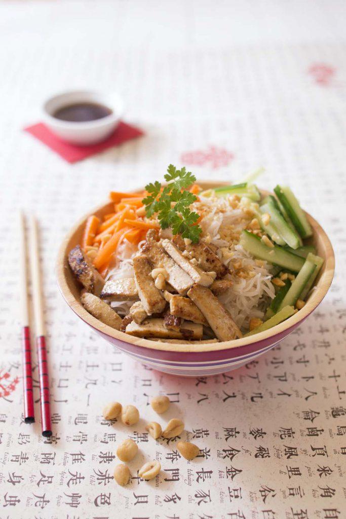 Photo de la recette : Bo bun vegan au tofu mariné