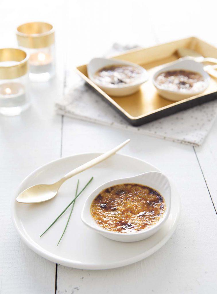 Photo de la recette : Crèmes brûlées aux cèpes – Noël veggie