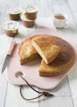Gâteau moelleux à la compote de pommes – sans lactose
