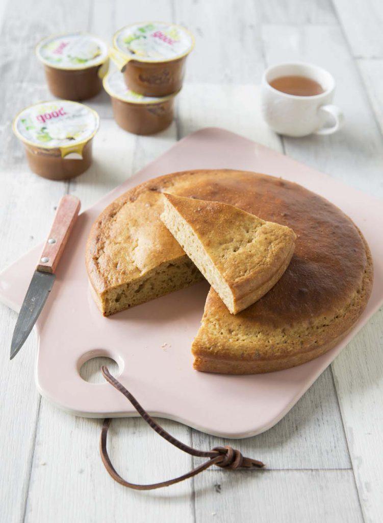 Photo de la recette : Gâteau moelleux à la compote de pommes – sans lactose