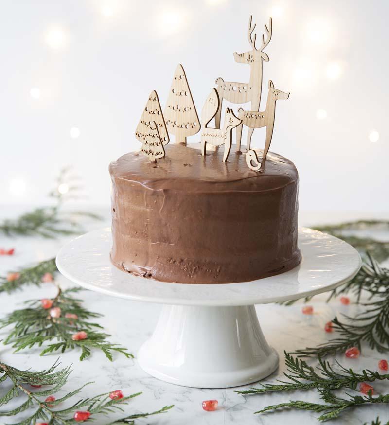 Recette Layer cake de Noël au chocolat