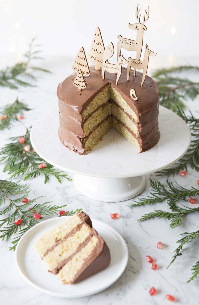 Photo de la recette : Layer cake de Noël au chocolat