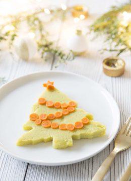 Sapins de polenta pour Noël