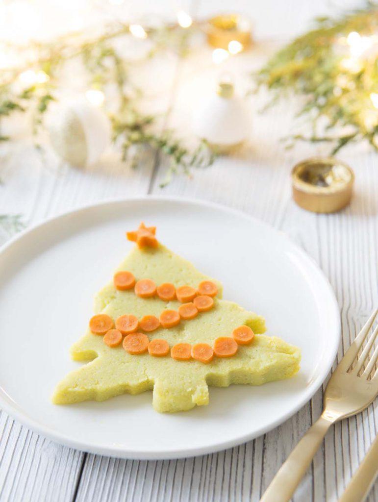 Photo de la recette : Sapins de polenta pour Noël