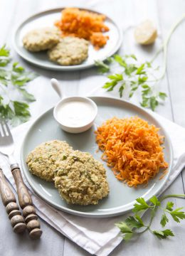 Galettes de quinoa au chèvre – sans gluten