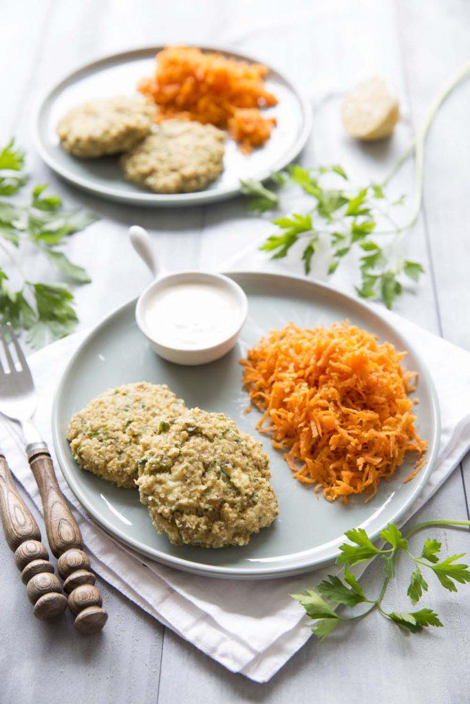 Photo de la recette : Galettes de quinoa au chèvre – sans gluten