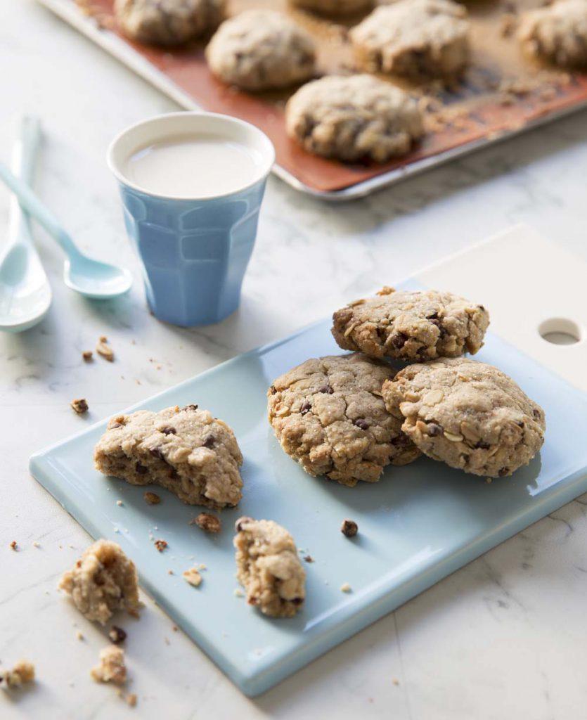 Recette Les Cookies aux flocons d'avoine et pépites de chocolat de The V World