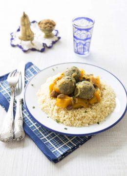Couscous végétarien de potimarron et boulettes de lentilles