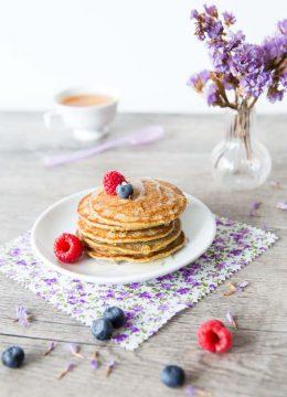 Pancakes à la farine de pépins de courge