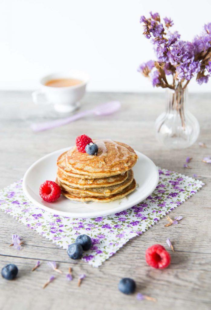 Photo de la recette : Pancakes à la farine de pépins de courge