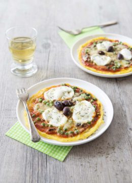 Pizza de polenta printanière