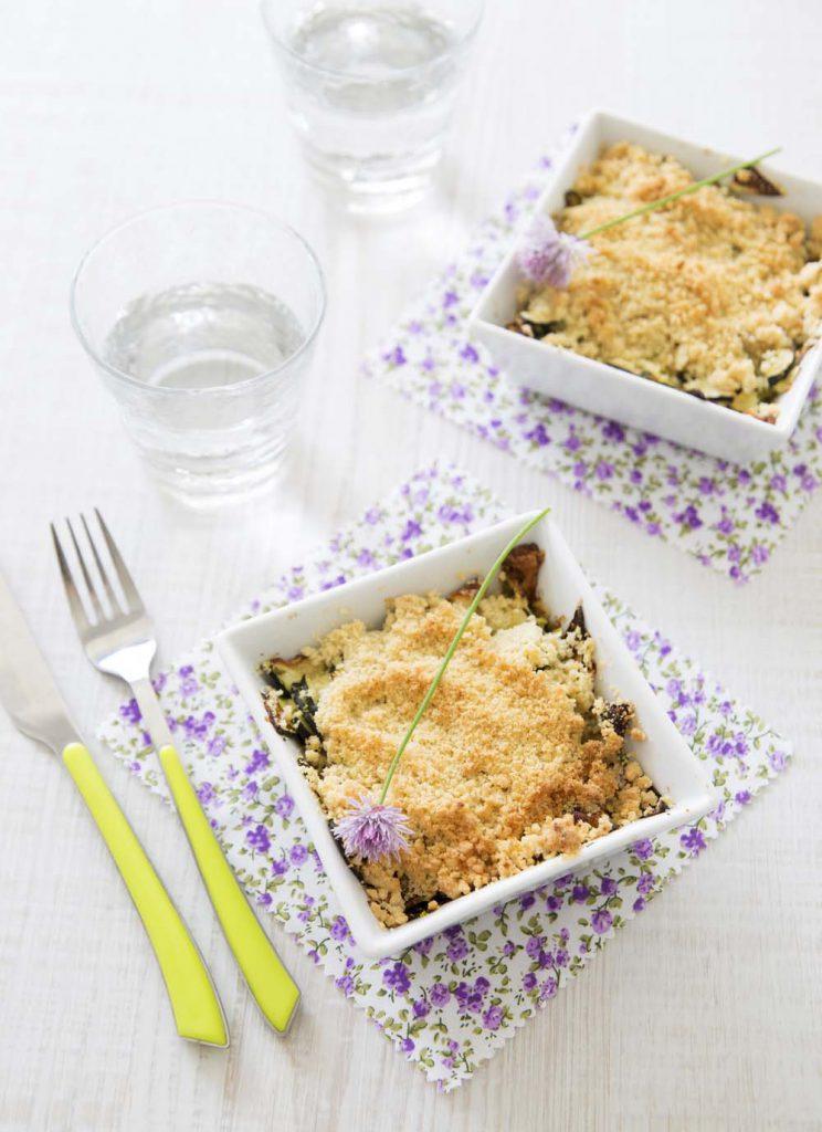 Photo de la recette : Crumble de courgettes au chèvre
