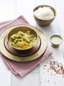 Curry de tofu aux petits pois