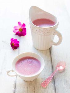 Pink latte – une boisson énergisante pour le matin