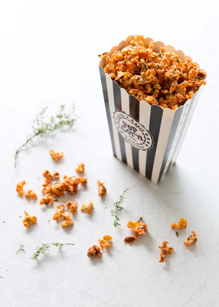 Photo de la recette : Pop corn salé tomates thym