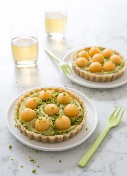 Tartelettes crues melon pistaches