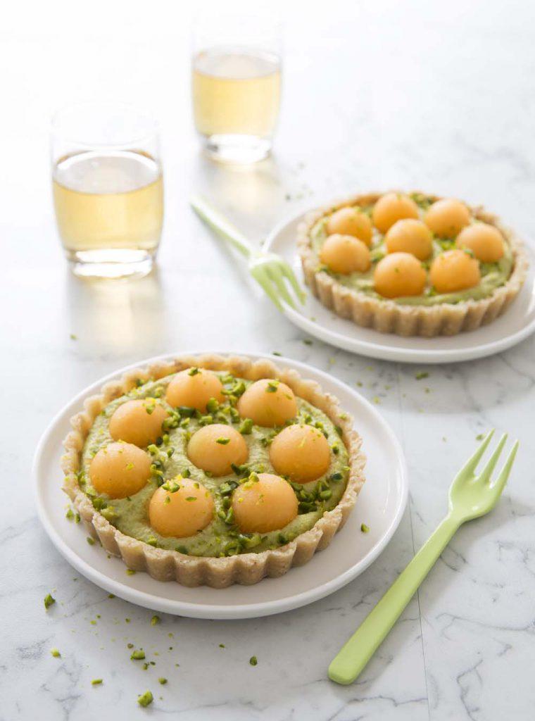 Photo de la recette : Tartelettes crues melon pistaches