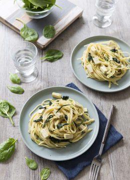 One pot pasta épinards tofu – plat rapide pour le soir