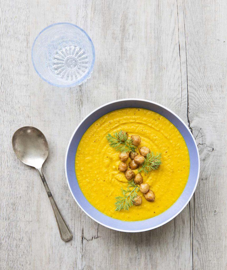 Photo de la recette : Soupe express carottes pois chiches