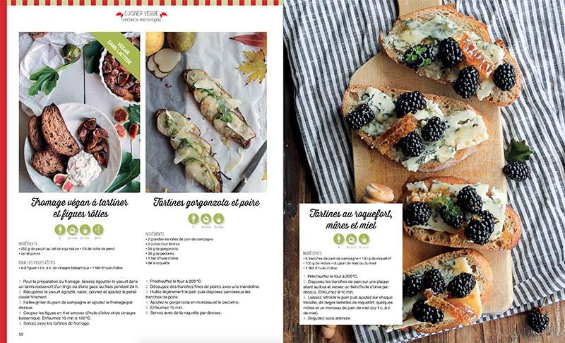 Magazine Esprit Veggie 6: tartines sucrées salées