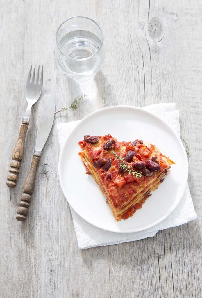 Photo de la recette : Lasagnes de tortillas aux haricots rouges – recette vegan express