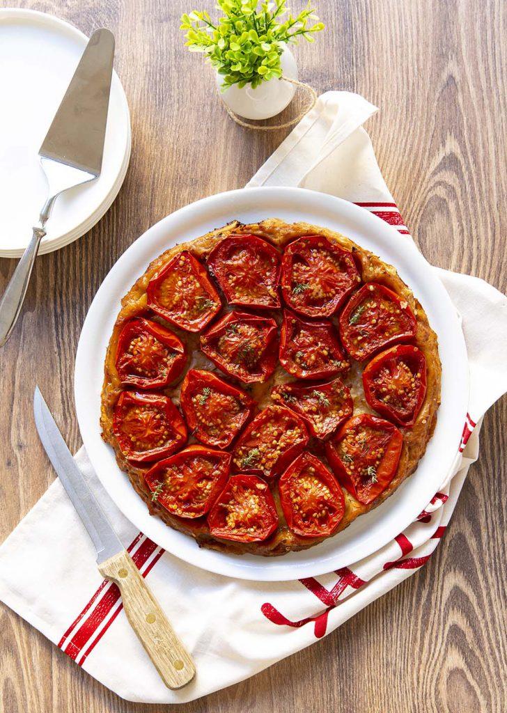 Photo de la recette : Tarte tatin aux tomates et vinaigre balsamique