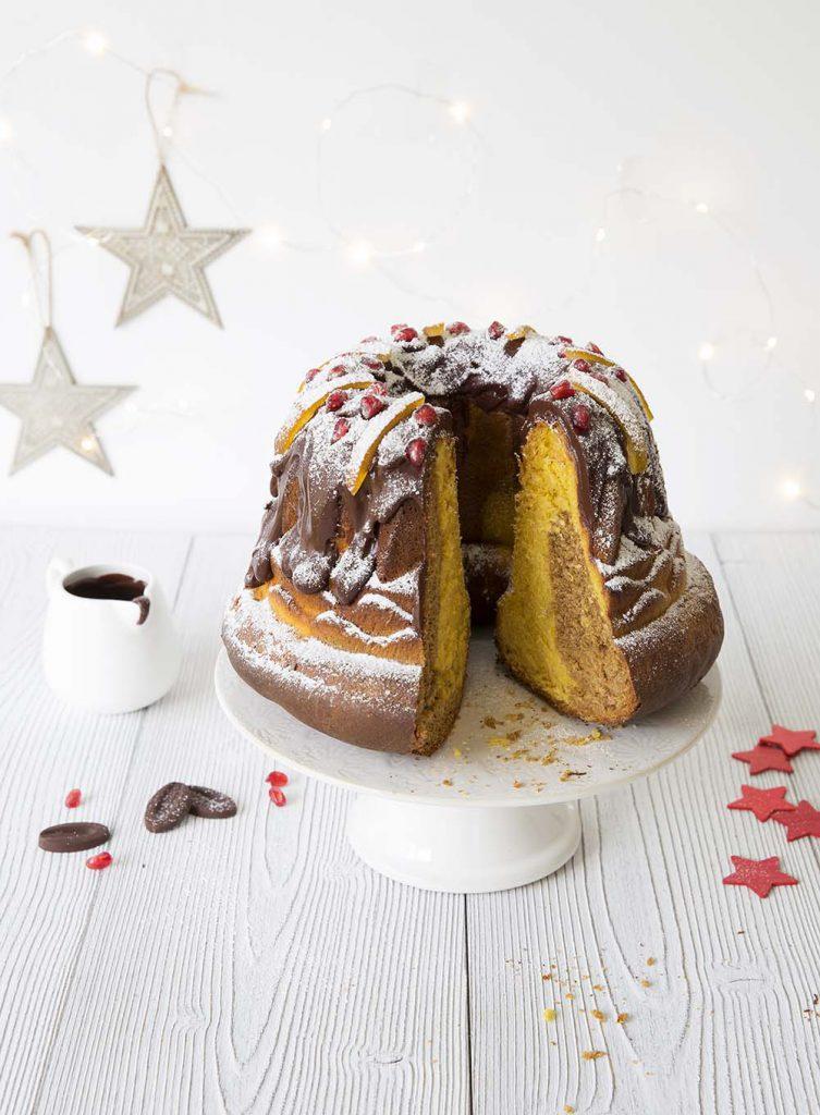 Photo de la recette : Kouglof marbré potiron chocolat