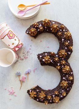 Number cake #3 speculoos chocolat – vegan