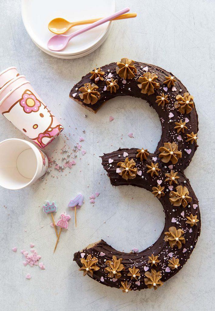 Photo de la recette : Number cake #3 speculoos chocolat – vegan