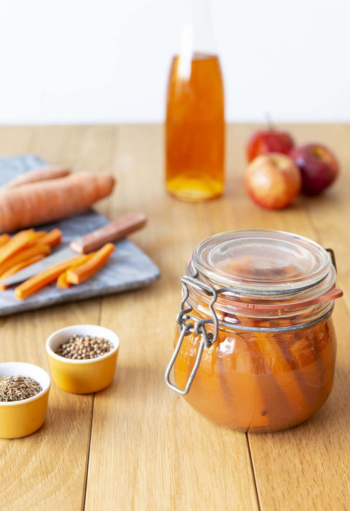 Photo de la recette : Pickles de carottes