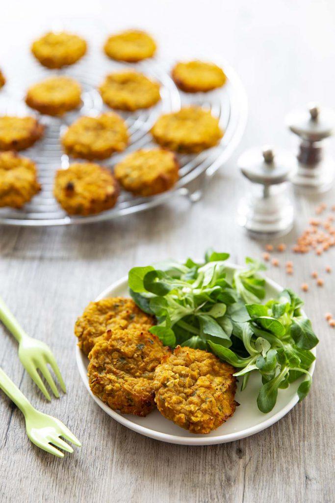 Photo de la recette : Galettes de lentilles corail et patates douces