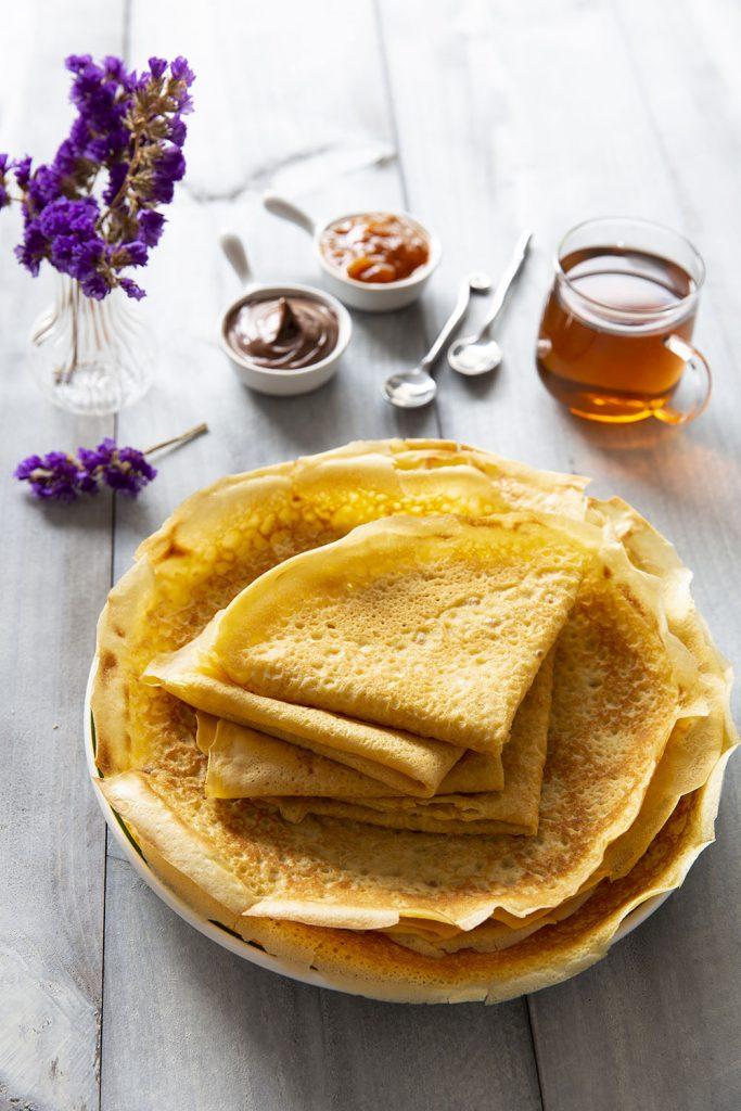 Photo de la recette : Pâte à crêpes sans gluten – crêpes souples et moelleuses